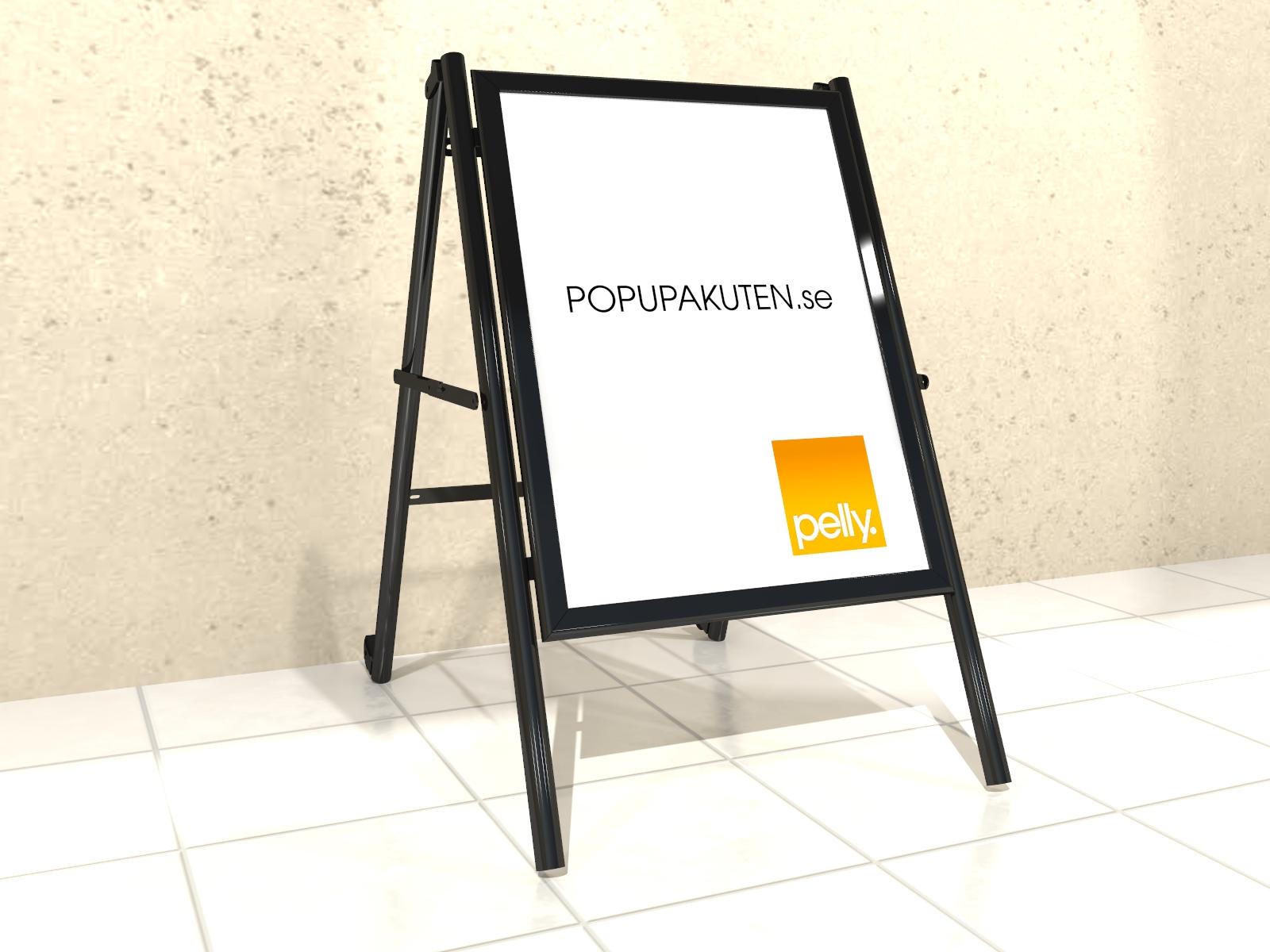 popupakuten_Profil skylt för trottoarpratare